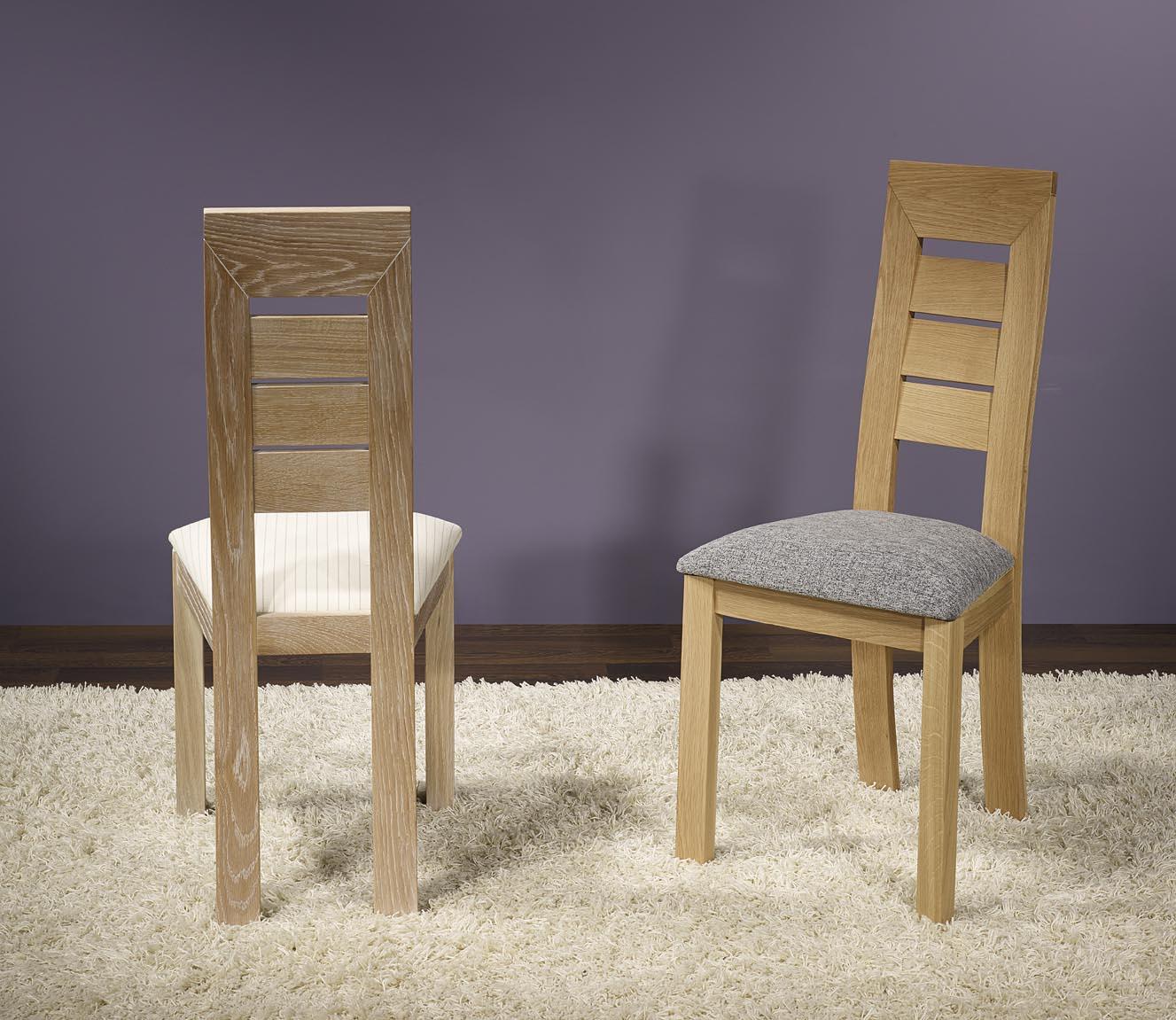 meuble en chêne Chaise Mathis réalisé en Chêne Massif LIGNE