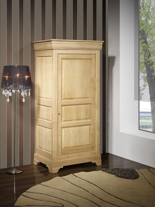 meuble en chne bonnetire 1 porte samuel rlise en chne massif de style louis philippe finition. Black Bedroom Furniture Sets. Home Design Ideas