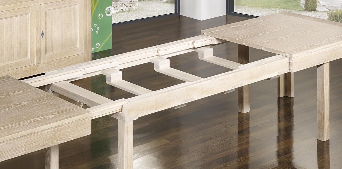 Meuble en chne table de repas rectangulaire 200x100 ralise for Table contemporaine avec rallonge