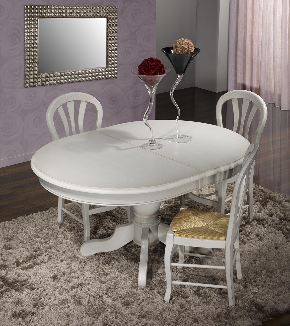 meuble en ch ne table ovale pied central romain r alis e en ch ne massif de style louis philippe. Black Bedroom Furniture Sets. Home Design Ideas