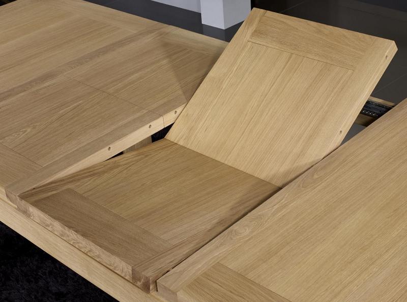 Meuble en chne table de repas rectangulaire 140x100 ralise for Table en bois contemporaine
