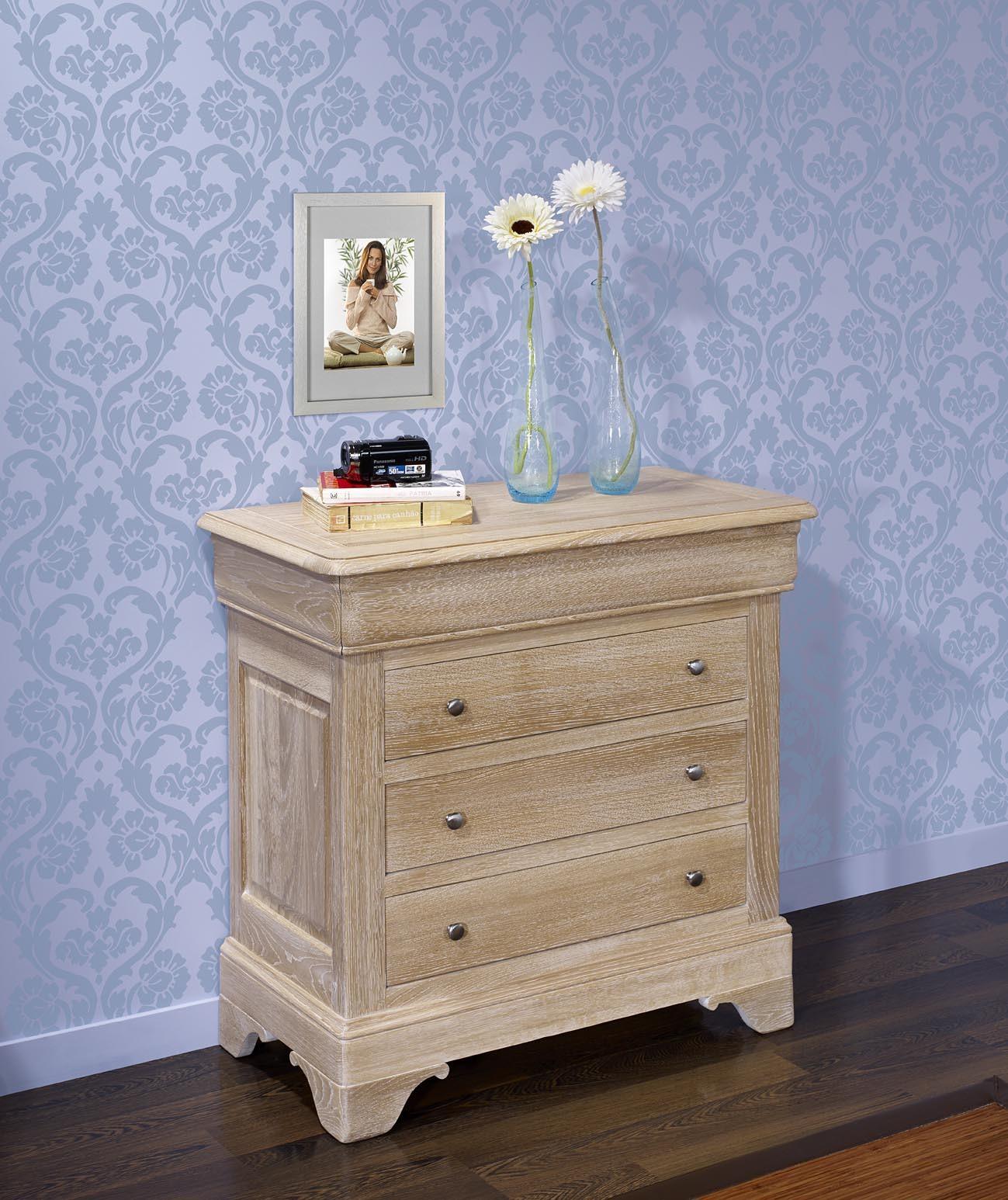 meuble en ch ne commode 4 tiroirs guillaume r alis e en ch ne de style louis philippe finition. Black Bedroom Furniture Sets. Home Design Ideas