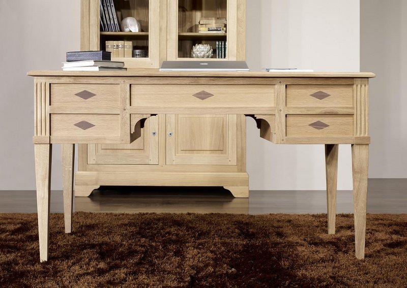 meuble en chne bureau ministre 5 tiroirs jean christian ralis en chne de style directoire. Black Bedroom Furniture Sets. Home Design Ideas