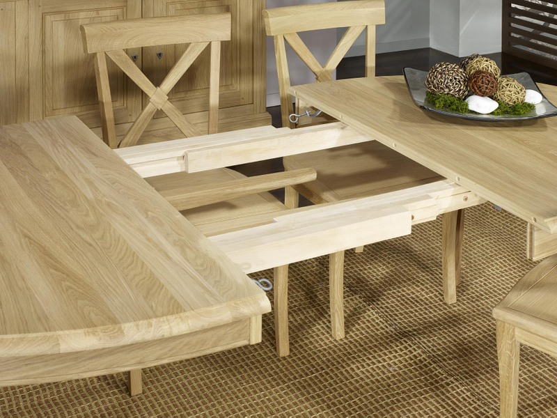 meuble en chne table ovale 170 110 romain ralise en chne. Black Bedroom Furniture Sets. Home Design Ideas