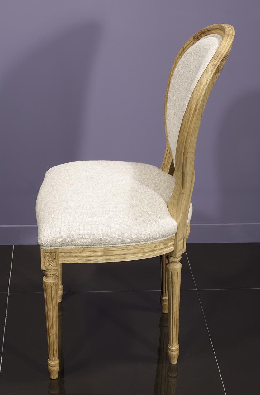 Meuble en chne chaise simon ralise en chne massif de style - Recouvrir une assise de chaise ...