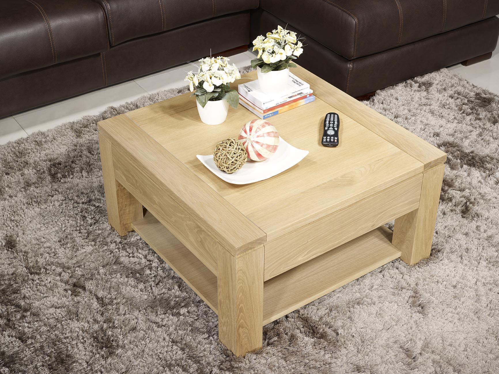meuble en ch ne table basse jean gabriel r alis e en ch ne massif ligne contemporaine finition. Black Bedroom Furniture Sets. Home Design Ideas