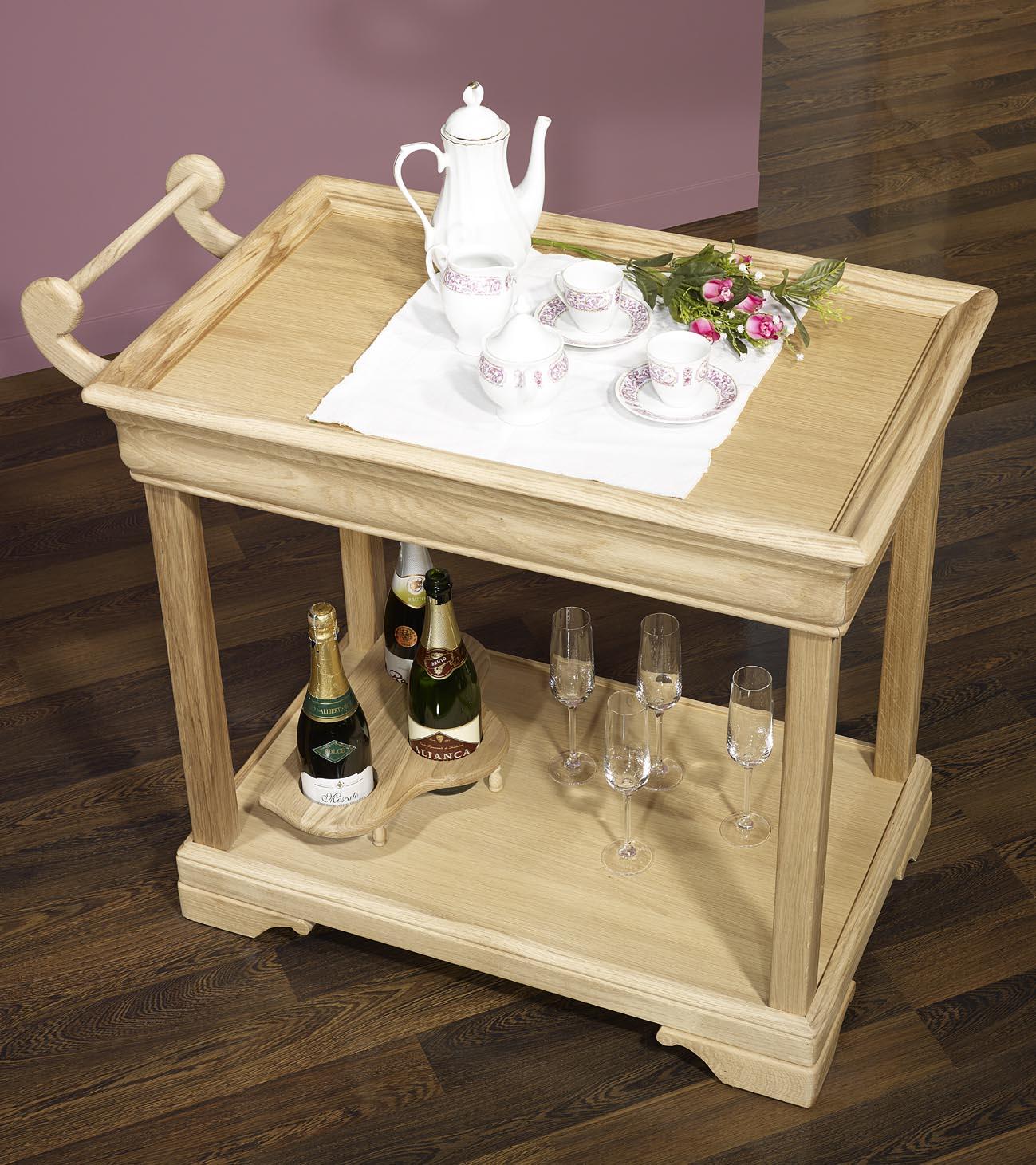 Meuble en chne table desserte roulante en chne de style - Table desserte roulante ...