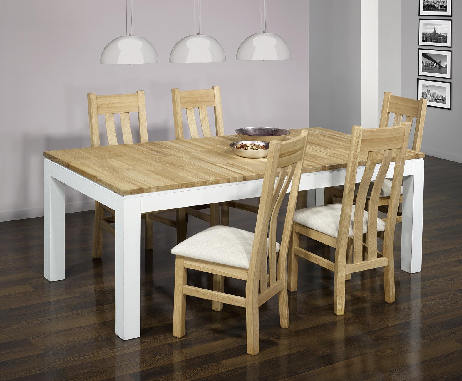 Meuble en chne table de repas rectangulaire alexandre for Miroir 200x100