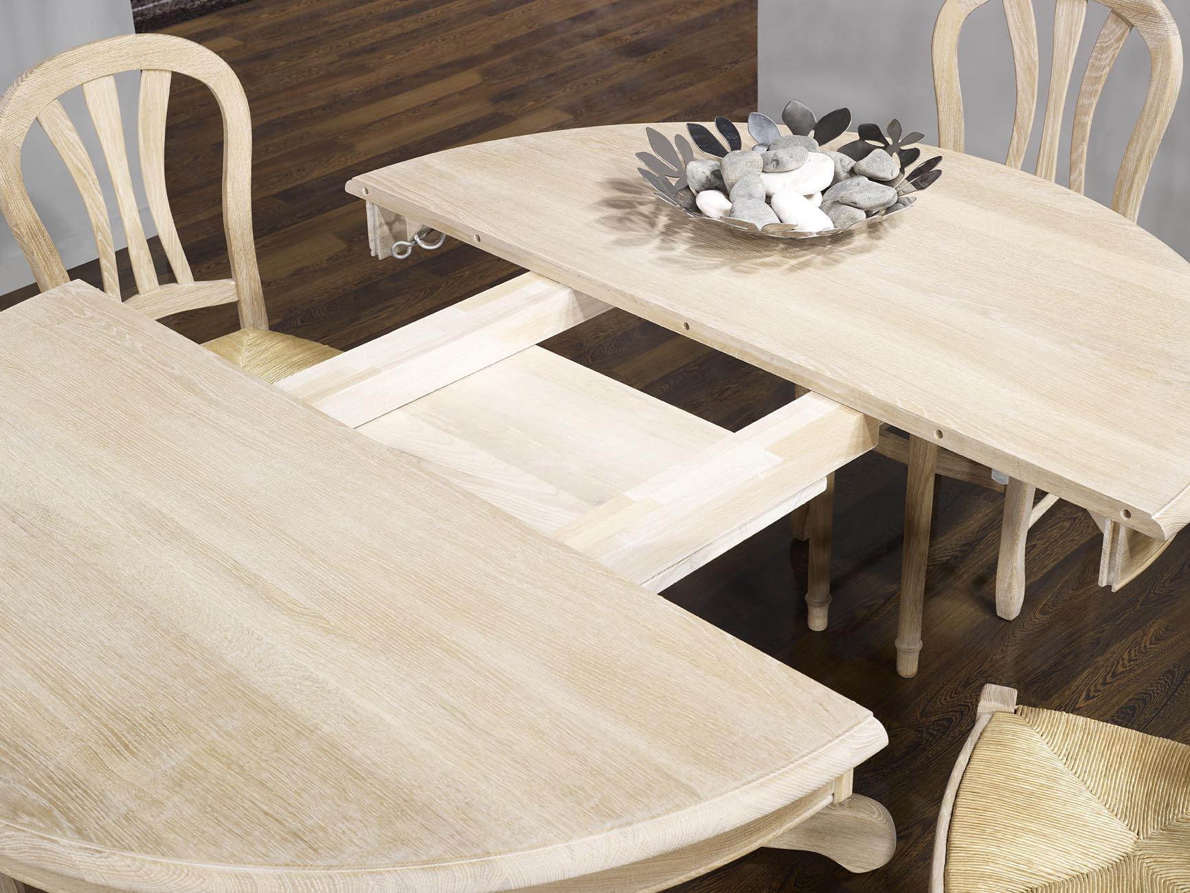 7745b4b8e230f9 ... Table ronde Maude, pieds central DIAMETRE 140 réalisée en Chêne massif  de style Louis Philipe ...